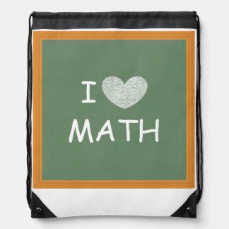I Love Math Drawstring Backpack
