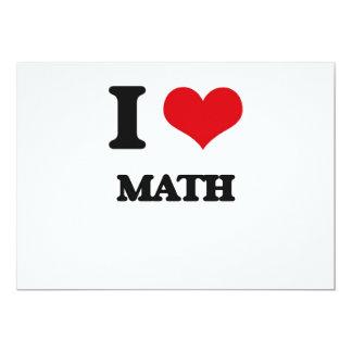 I Love Math 5x7 Paper Invitation Card