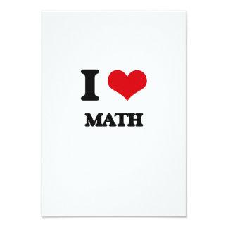 I Love Math 3.5x5 Paper Invitation Card