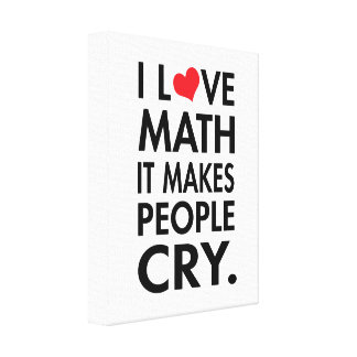 I Love Math, It Makes People Cry Canvas Print