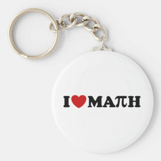 I Love Math Keychain