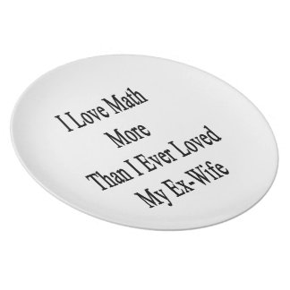 I Love Math More Than I Ever Loved My Ex Wife Party Plates