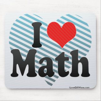 I Love Math Mouse Pad