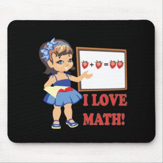I Love Math Mouse Pad