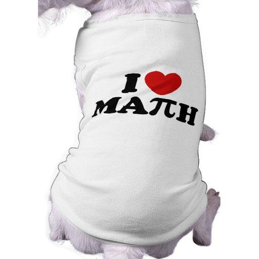 I Love Math Pet Tee Shirt