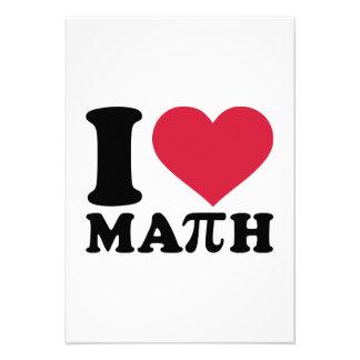 I love math Pi Custom Invites