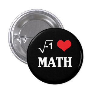 I Love Math Pinback Button