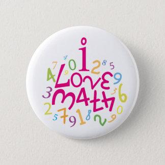 i LOVE MATH... Pinback Button