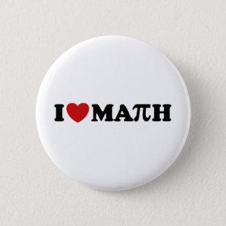 I Love Math Pinback Button
