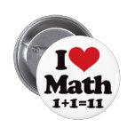 I Love Math! Pins