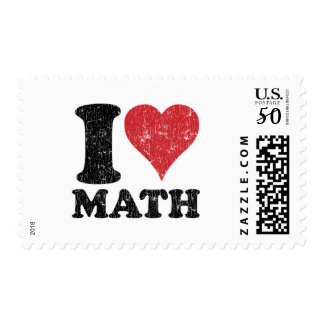 I Love Math Postage