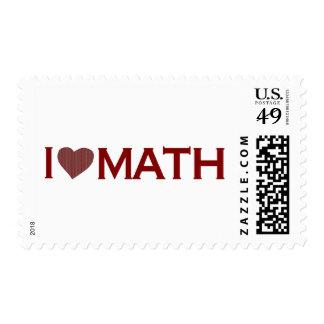 I Love Math Postage Stamp