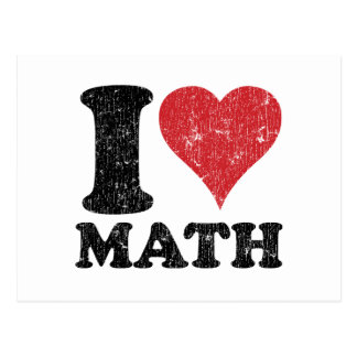 I Love Math Postcard