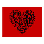 I Love Math Postcard