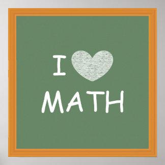 I Love Math Print