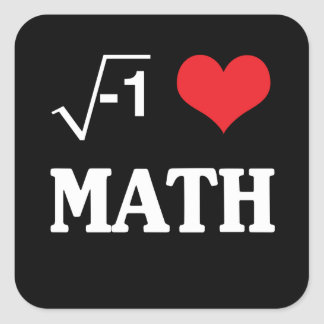 I Love Math Square Sticker