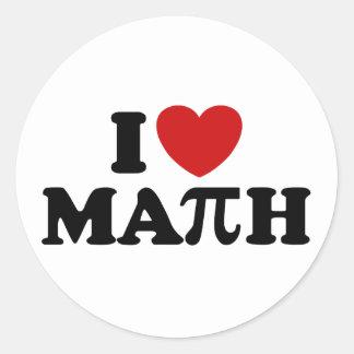 I Love Math Stickers
