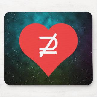 I Love Math Symbols Mouse Pad