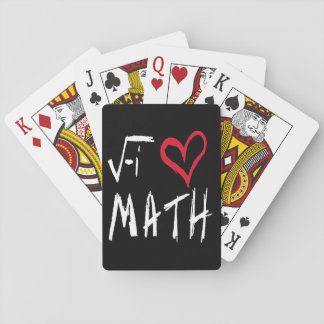 I love Math Tote Mouse Playing Cards