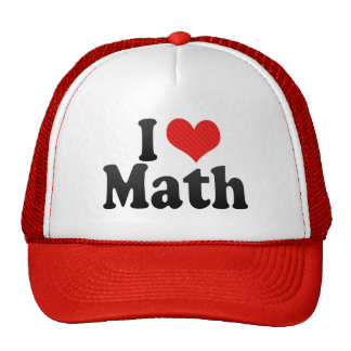 I Love Math Trucker Hat