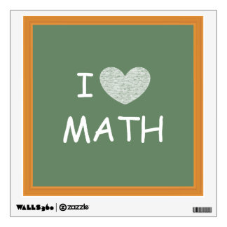 I Love Math Wall Sticker