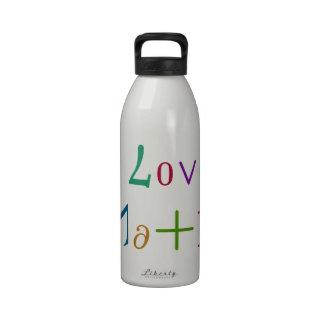 I Love Math Reusable Water Bottles