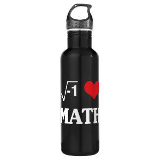 I Love Math Water Bottle