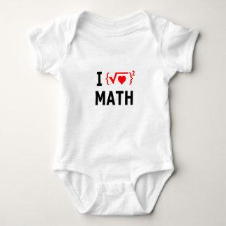 I Love Math White Baby Bodysuit