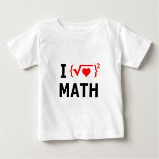 I Love Math White Baby T-Shirt