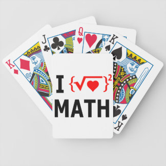 I Love Math White Bicycle Playing Cards