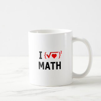 I Love Math White Coffee Mug