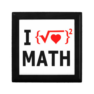 I Love Math White Gift Box