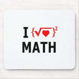 I Love Math White Mouse Pad