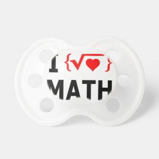 I Love Math White Pacifier
