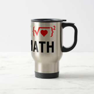I Love Math White Travel Mug