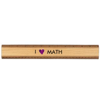 I Love Math Wood Ruler