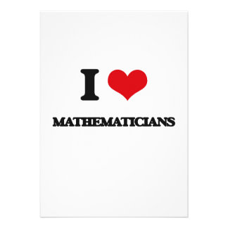 I love Mathematicians Cards