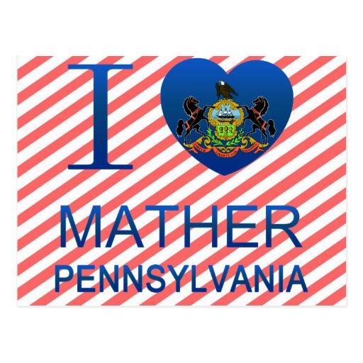 I Love Mather, PA Postcard