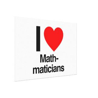 i love mathmaticians canvas print