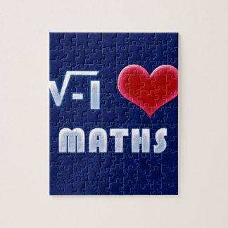 I LOVE MATHS - blue Model Jigsaw Puzzle