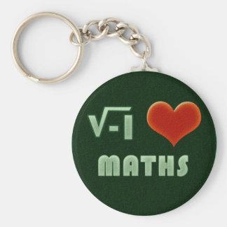 I LOVE MATHS - Green model Llavero Redondo Tipo Pin