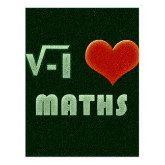 I LOVE MATHS - Green model Tarjetas Postales
