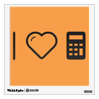 I Love Maths Wall Sticker