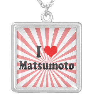 I Love Matsumoto, Japan Silver Plated Necklace