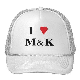 I LOVE MATT AND KIM TRUCKER HAT