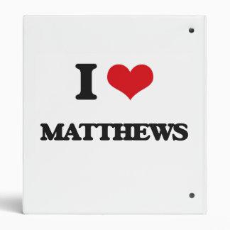 I Love Matthews 3 Ring Binder
