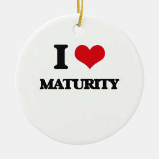 I Love Maturity Double-Sided Ceramic Round Christmas Ornament