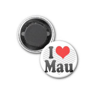 I Love Mau India Magnets