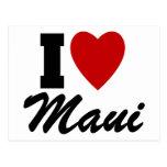 I Love Maui Post Card