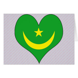 I Love Mauritania Greeting Card